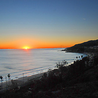 Santa Monica Bay amid the sunset on Thursday, November 26, 2010.
