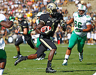WEST LAFAYETTE, IN - SEPTEMBER 29: Gary Bush #6 of the Purdue Boilermakers runs the ball for a touchdown against the Marshall Thundering Herd at Ross-Ade Stadium on September 29, 2012 in West Lafayette, Indiana. (Photo by Michael Hickey/Getty Images) *** Local Caption *** Gary Bush