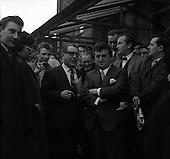 1961 - Brendan Behan Outside the District Court, Dublin.