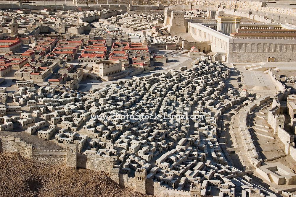"Israel, Jerusalem, ""The City of David"". A model in the Israel Museum, Israel."