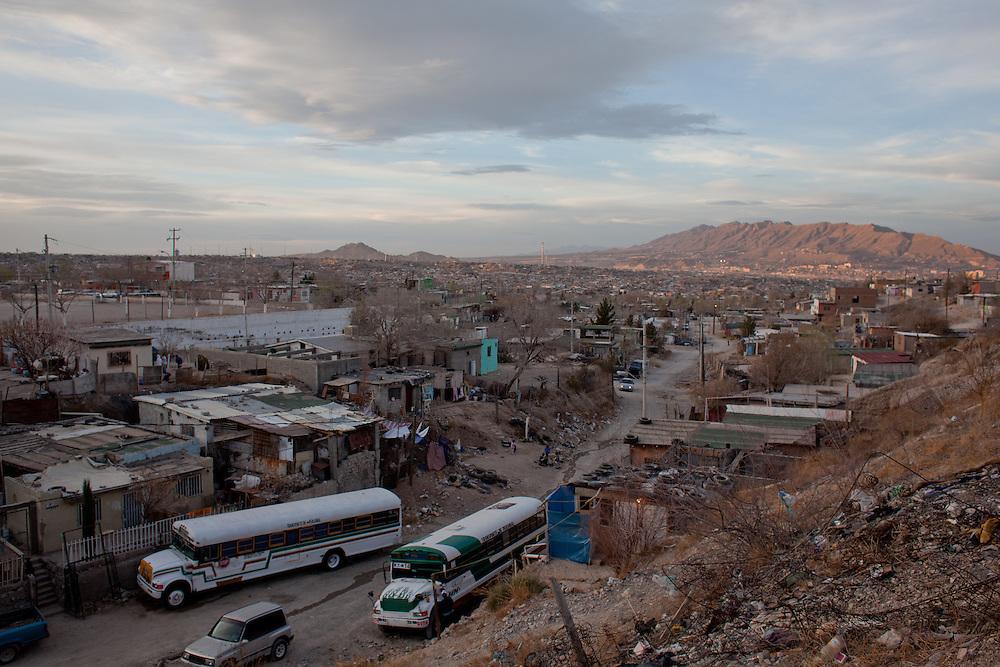A view of the Diaz Ordaz colonia of Ciudad Juarez.