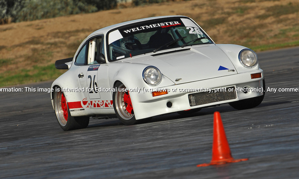 Jamie Lovett.Porsche 911.SAU Deca Motorkhana sponsored by Micolour.Shepparton, Victoria .23rd of May 2009.(C) Joel Strickland Photographics.Use information: This image is intended for Editorial use only (e.g. news or commentary, print or electronic). Any commercial or promotional use requires additional clearance.