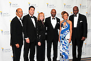 3 March 2011- New York, NY-  l to r: Dr. Michael Lomax, Hamish Dr. Piggy Conlon, Mark Mason, Tamara Harris Robinson and Vernon Jordan at the UNCF ' A Mind is'  Gala held at the Marriott Marquis Hotel on March 3, 2011 in New York City. Photo Credit: Terrence Jennings
