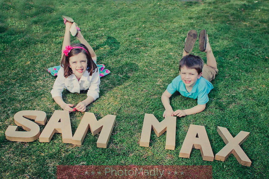 """""""I couldn't be more thrilled with the fabulous photos shot by Erika of PhotoMadly! My very shy children warmed up to her instantly, and she created a connection that captured moments I'll forever treasure. I'm already looking forward to our next appointment."""" - Sarah, Nate, Sam & Max"""
