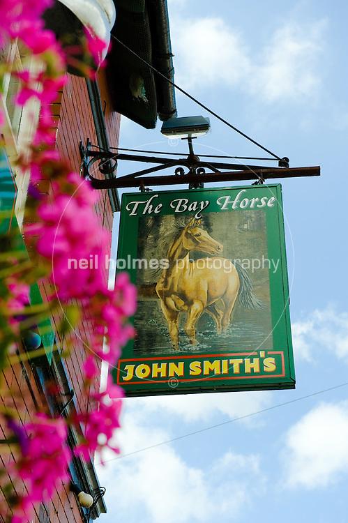 The popular Bay Horse pub, Kilham village East Yorkshire