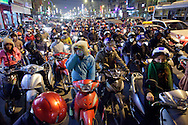 Rush hour traffic in Hanoi, Vietnam on Jan 11, 2013..(Photo by Kuni Takahashi)