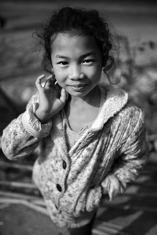 A girl near Nam Bak, Laos.