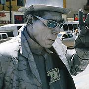 Street performer on Hollywood Blvd at Highland. Hollywood, LA, CA. May 2010.