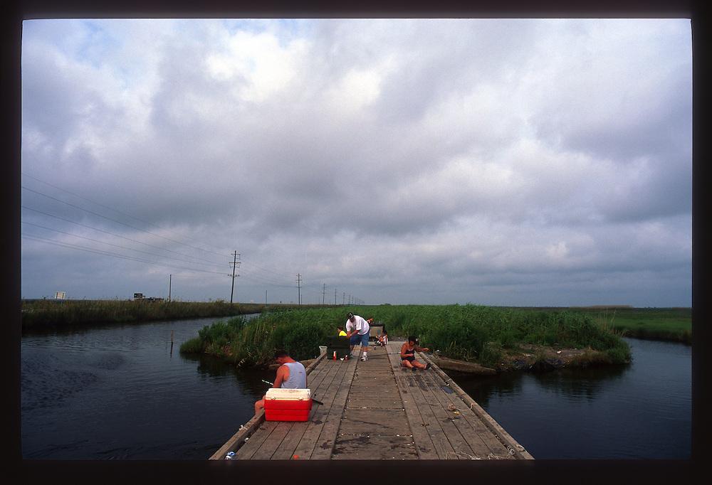 Early Morning Crabbing, Cameron Parish
