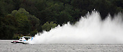 Driver Dave Villwock pilots the Spirit of Qatar hydroplane for a test run on Lake Washington.<br /> Greg Gilbert / The Seattle Times