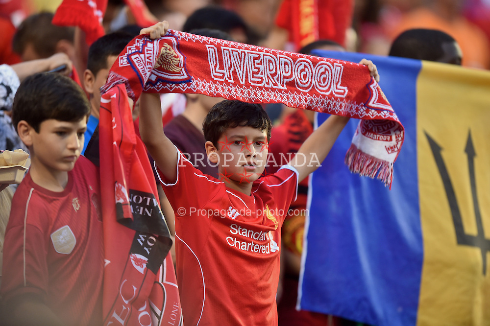 MIAMI, USA - Monday, August 4, 2014: A Liverpool supporter before the International Champions Cup Final match against Manchester United at the SunLife Stadium on day fifteen of the club's USA Tour. (Pic by David Rawcliffe/Propaganda)