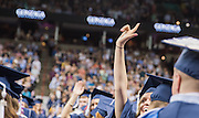The undergraduate class of 2016 graduates in the Spokane Arena on May 8th, 2016. (Photo by Edward Bell)