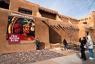 New Mexico Museum of Art, .Santa Fe, New Mexico, tourists