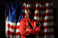 Olympian Isiah Young, a 200 meter sprinter, poses in Oxford, Miss. on Tuesday, July 10, 2012. Young ran the 200 meters in a time of 20.16 seconds at the U.S. Olympic Trials in Eugene, Ore.