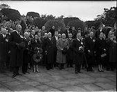 1958 - Guinness employees at commemoration ceremony at Islandbridge