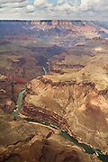 An aerial view of the Colorado River. Grand Canyon National Park, Arizona.