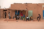"Outside the ""ghetto"" in Agadez. Migrants are living there before going to Libya."
