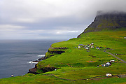 Small village of G·sadalur, V·gar, Faroe Islands