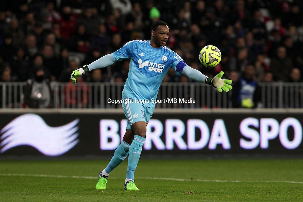 Steve MANDANDA  - 23.01.2015 - Nice / Marseille - 22eme journee de Ligue 1<br />Photo : Jean Christophe Magnenet / Icon Sport