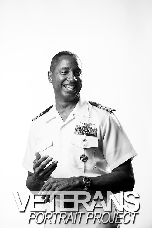 Marco Cromartie<br /> Navy<br /> O-6<br /> Aviator (F-14A)<br /> Aug. 1983 - Dec. 2013<br /> <br /> <br /> Veterans Portrait Project<br /> San Diego, CA