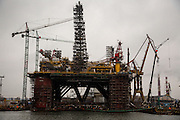 (LNG? Oil? TK with MacDowall) platform being retrofitted in the repair yard.<br /> <br /> Gdansk and Remontowa Shipyards