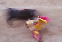 Bullfight in Arles, Provence, France, during the Feria de Paques, the Easter festival