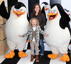 Jill halfpenny and Harvey-Rhys Halfpenny attend Penguins of Madagascar Multimedia Screening at Vue West End, Leicester Square, London on Saturday 29th   November 2014