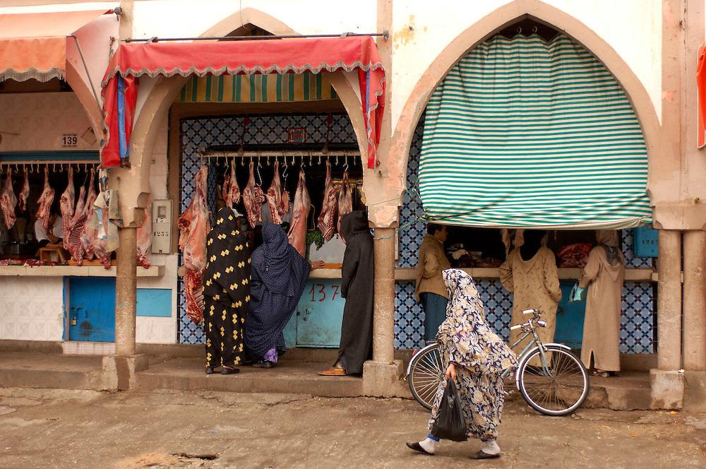 Meat Market,Tiznit , Morocco