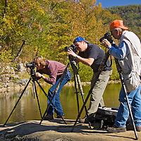 Photographers, Ozark Mountains, Arkansas, autumn