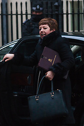 London, February 3rd 2015. Members of the cabinet gather at Downing Street for their weekly meeting. PICTURED: Baroness Stowell of Beeston MBE, Leader of the House of Lords