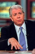 Journalist Carl Bernstein discusses the Monica Lewinsky scandal during NBC's Meet the Press August 9, 1998 in Washington, DC.