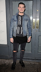 Charlie Sims attends as TV personality Ferne McCann launches her blog 'Fashionable Foodie' at Charlie's Deli, High Street, Brentwood, Essex on Thursday 5 February 2015