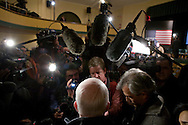 Sen. John McCain (R-AZ) speaks to the media after a campaign event in Derry, N.H., on Thursday, Jan. 3, 2008.