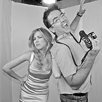 Spanish photographer KIKE CALVO with Massiel Rodriguez, from Debate Abierto