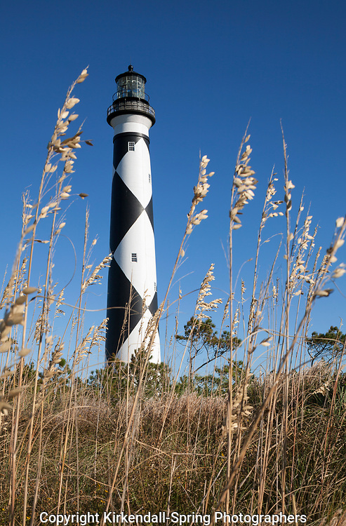 NC00872-00....NORTH CAROLINA - Cape Lookout Lighthouse on the South Core Banks in Cape Lookout National Seashore.