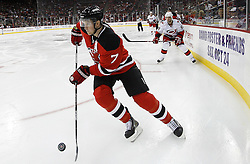 Oct 17, 2009; Newark, NJ, USA; during the third period at the Prudential Center. The Devils defeated the Hurricanes 2-0.