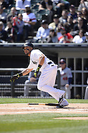 CHICAGO - APRIL 11:  Melky Cabrera #53 of the Chicago White Sox bats against the Minnesota Twins on April 11, 2015 at U.S. Cellular Field in Chicago, Illinois.  (Photo by Ron Vesely)   Subject:   Melky Cabrera
