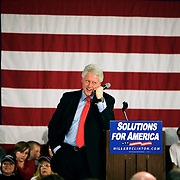Bill Clinton speaks on behalf of his wife Hillary Clinton during her campaign for president at Myrtle Beach High School several days before the South Carolina Democratic Primary scheduled for January 26, Myrtle Beach, South Carolina, January 23, 2008.