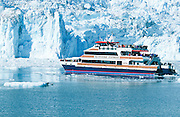 Alaska. Prince William Sound .Klondike Express glacier siightseeing cruise,