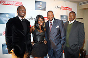 l to t: Kwame Jackson, Abiola Abrams, Munson Steed, and Chuck Creekmur at The Men of Style Awards presented by Gillette Fusion and Rolling Out Urbanstyle Weekly held at the 40/40 Club on Novemeber 2, 2009 in New York City