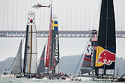 The first fleet race of the  America's Cup World Series, San Francisco. 23/8/2012