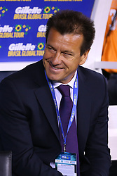 Sep 9, 2014; East Rutherford, NJ, USA; Brazil head coach Carlos Dunga (hc) during the first half at MetLife Stadium.