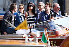 SEP 26 2014 George Clooney and Amal Alamuddin prepare for their wedding