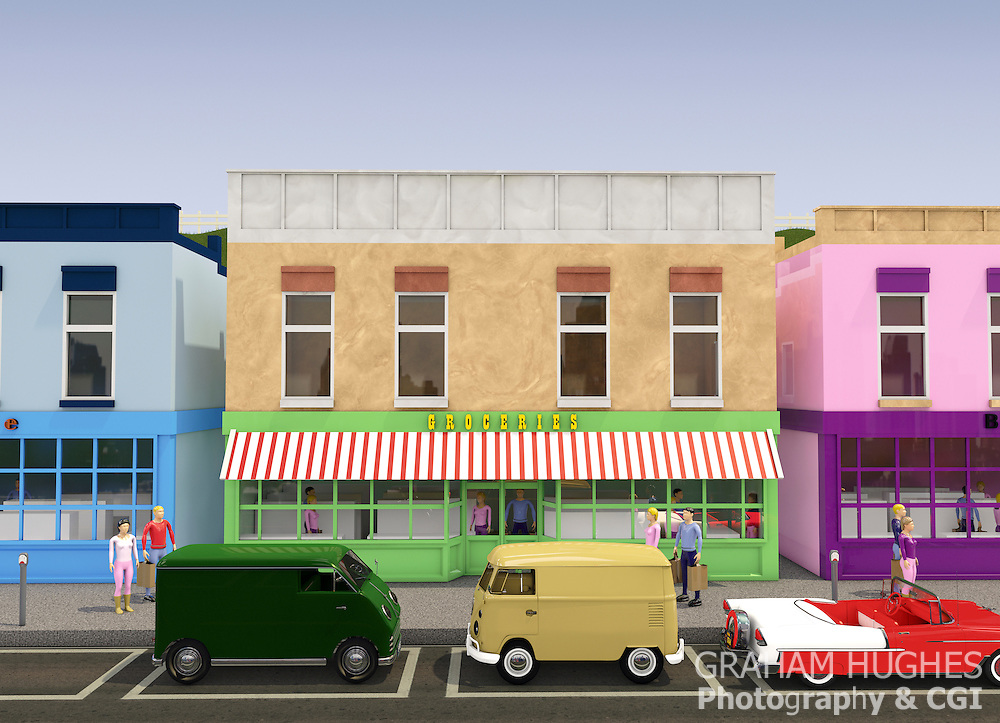 Toy Town Groceries Store USA