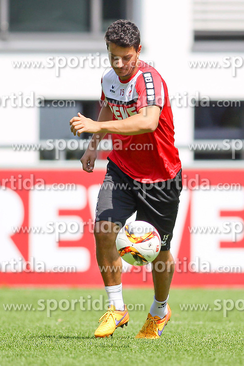 16.07.2015, Geissbockheim, Koeln, GER, 1. FBL, 1. FC Koeln, Training, im Bild Neuzugang Philipp Hosiner (1. FC Koeln #15) // during a practice session of German Bundesliga Club 1. FC Cologne at the Geissbockheim in Koeln, Germany on 2015/07/16. EXPA Pictures &copy; 2015, PhotoCredit: EXPA/ Eibner-Pressefoto/ Schueler<br /> <br /> *****ATTENTION - OUT of GER*****