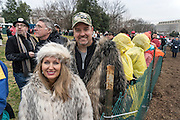 Lisa and Jeff Ludlam, 43, Oklahoma City. <br /> <br /> President Trump Inauguration in Washington_DC_01_2017 with reporter Peter Hossli.<br /> <br /> Photo &copy; Stefan Falke / www.stefanfalke.com stefanfalke@mac.com <br /> 917-2149029