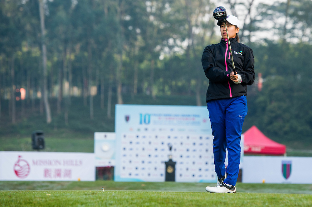 Amy Chu of Australia in action during day one of the 10th Faldo Series Asia Grand Final at Faldo course in Shenzhen, China. Photo by Xaume Olleros.