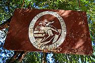 Rusty sign in Baragua, Ciego de Avila Province, Cuba.