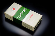London, England - May 30, 2016: Packet of Consulate Menthol Cigarettes, Menthol cigarettes were first developed in  Ohio in 1924.
