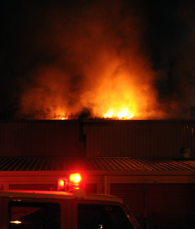 Fire crews from across the Wellington region responded to a large fire at Kiwi Self Storage building in Kilbirne, Wellington, New Zealand, Friday, April 04, 2014. The storage building is next to the NZ Fire Service Wellington Training Centre and the Kilbirnie Fire Station. Credit:SNPA / Ross Setford